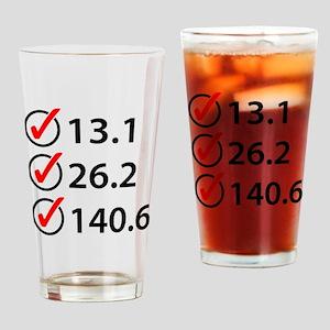 Marathon Triathlon Checklist Drinking Glass
