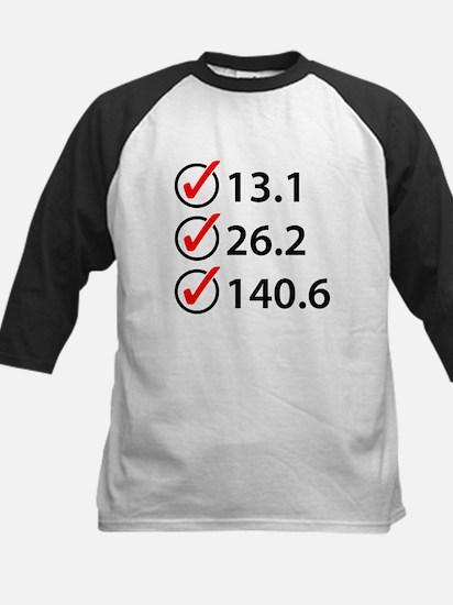 Marathon Triathlon Checklist Baseball Jersey