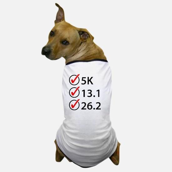 Running Checklist Dog T-Shirt