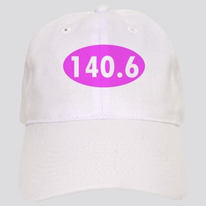Pink 140.6 Triathlon Oval Cap