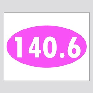 Pink 140.6 Triathlon Oval Poster Design