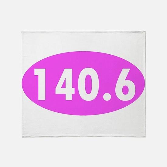 Pink 140.6 Triathlon Oval Throw Blanket