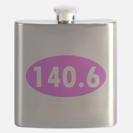 Pink 140.6 Triathlon Oval Flask