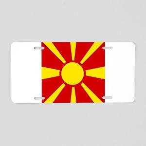 Flag of Macedonia Aluminum License Plate