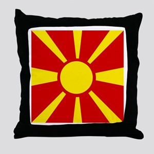 Flag of Macedonia Throw Pillow