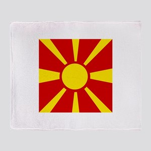 Flag of Macedonia Throw Blanket