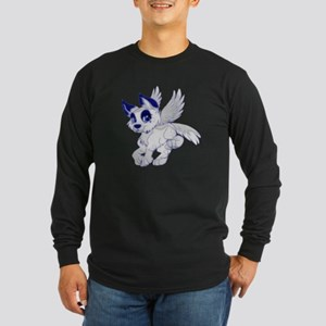 A Dreamy Wolf Long Sleeve Dark T-Shirt