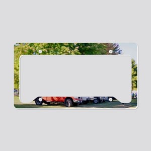 Car in green nature License Plate Holder