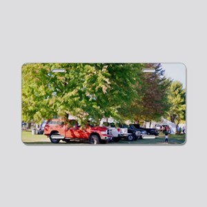 Car in green nature Aluminum License Plate