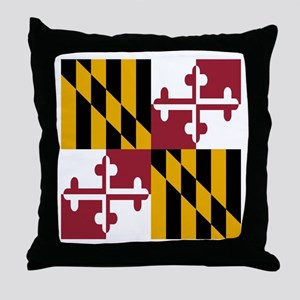State Flag of Maryland Throw Pillow