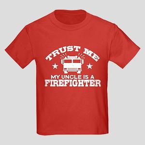 Trust Me My Uncle is a Firefight Kids Dark T-Shirt
