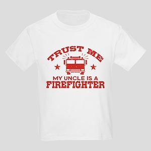 Trust Me My Uncle is a Firefigh Kids Light T-Shirt