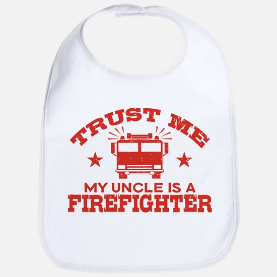 Trust Me My Uncle is a Firefighter Cotton Baby Bib