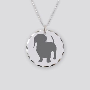 dachshund gray 1C Necklace