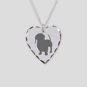 dachshund gray 2 Necklace