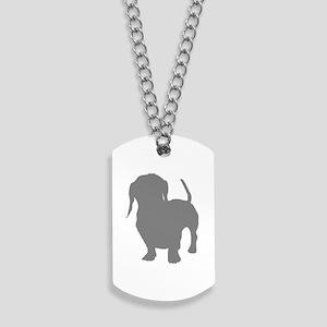 dachshund gray 3 Dog Tags