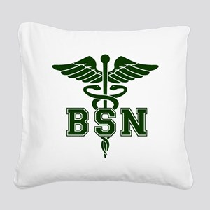 BSN Square Canvas Pillow