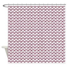 Cute Pink Hearts Pattern Shower Curtain
