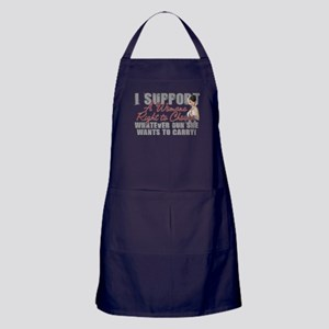 Womans Right to Choose Apron (dark)