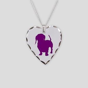 dachshund purple 2 Necklace