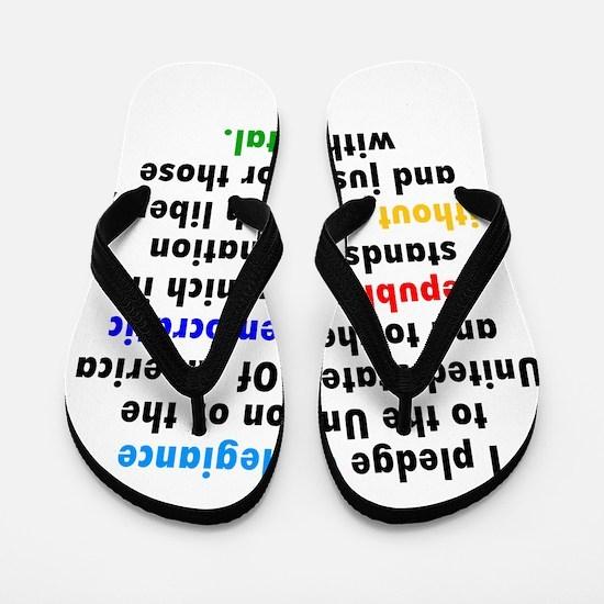Revised Pledge Of Allegiance Flip Flops