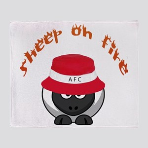 Sheep On Fire Throw Blanket