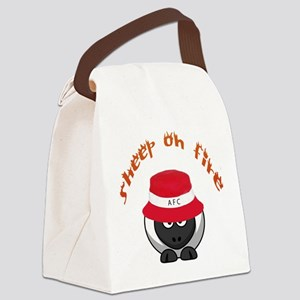 Sheep On Fire Canvas Lunch Bag
