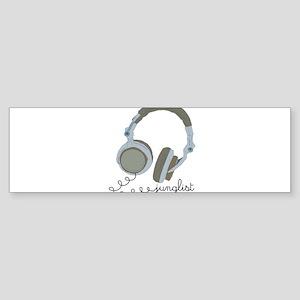 HeadphoneSketch Bumper Sticker