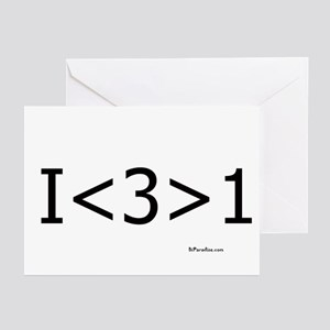 I love more than one Greeting Cards (Pk of 10)
