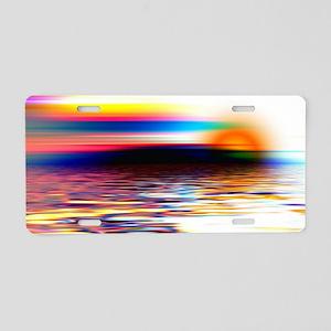 Sunset Art Aluminum License Plate