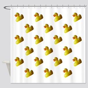 Rubber Duckies Premium Shower Curtain