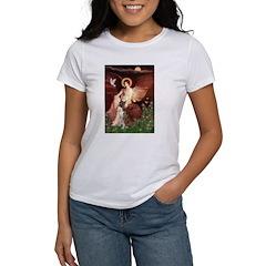 Seated Angel & Boxer Women's T-Shirt