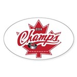 Canada 2014 Sticker (Oval 10 pk)