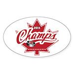 Canada 2014 Sticker (Oval 50 pk)