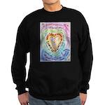 Rainbow Heart Cancer Sweatshirt (dark)
