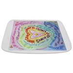Rainbow Heart Cancer Bathmat