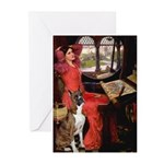 Lady & Boxer Greeting Cards (Pk of 10)