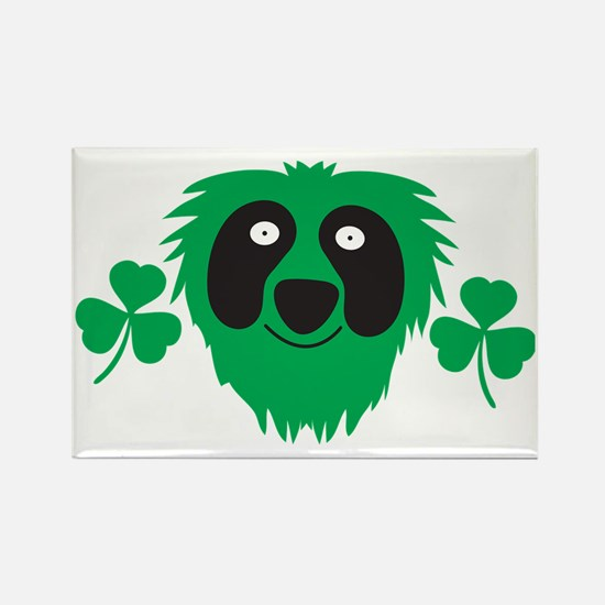 Green Irish monster with shamrock Rectangle Magnet