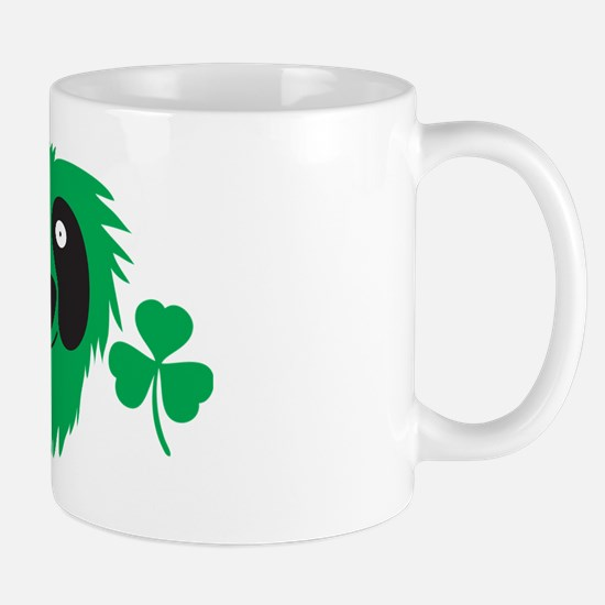 Green Irish monster with shamrocks Mug
