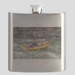 Raft, Animas River, Colorado, USA Flask