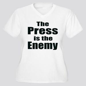 The Press is the Enemy Women's Plus Size V-Neck T-