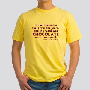 Chocolate Word Yellow T-Shirt