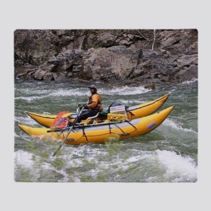 Raft, Animas River, Colorado, USA Throw Blanket