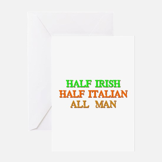 half Irish, half Italian Greeting Cards