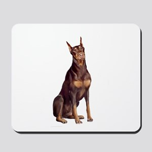 Red Doberman #1 Mousepad