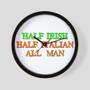 half Irish, half Italian Wall Clock
