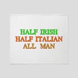 half Irish, half Italian Throw Blanket