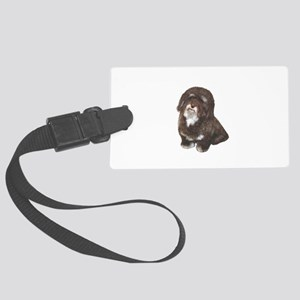 Havanese (brn-blk) Large Luggage Tag