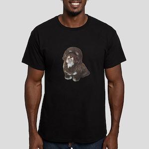 Havanese (brn-blk) Men's Fitted T-Shirt (dark)