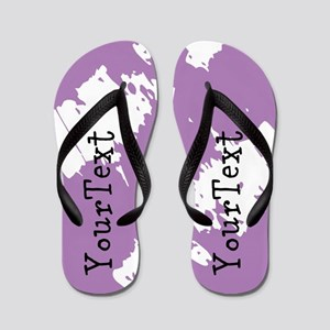 Purple Personalized Flip Flops